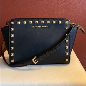 Michael Kors Studded Saffiano Leather Handbag